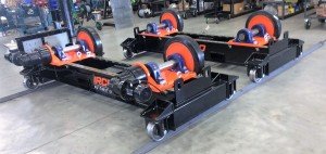 Cantilevered Turning Rolls with Operating Controls