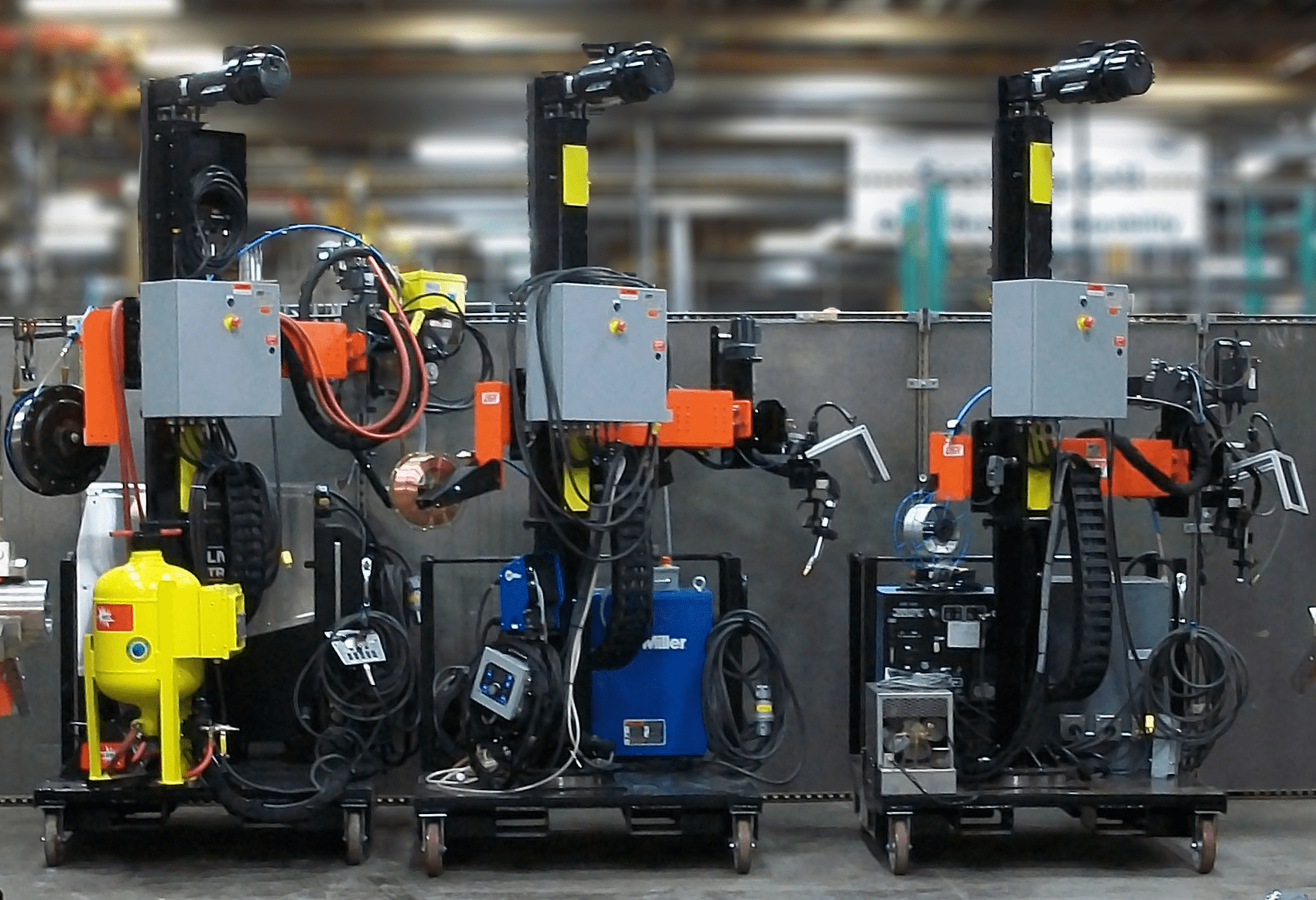 Left to Right Welding Configurations: SAW, GMAW, GTAW