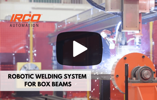 Linear welding robot for box beam welding