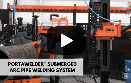 submerged arc pipe welding system